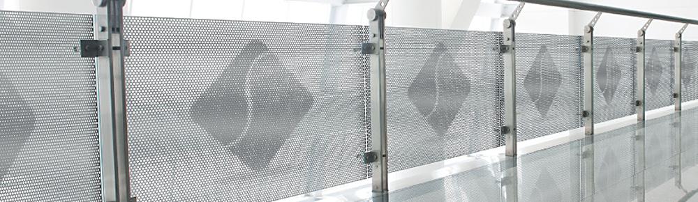 aluminium fassade zaun lochblech sichtschutz. Black Bedroom Furniture Sets. Home Design Ideas